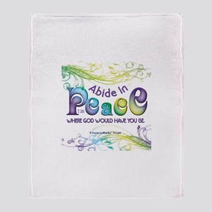 ACIM-Abide in Peace Throw Blanket