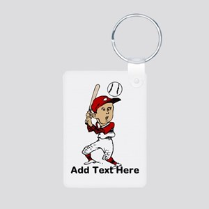 Personalized cute cartoon bas Aluminum Photo Keych