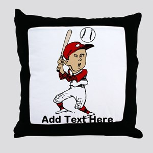 Personalized cute cartoon bas Throw Pillow