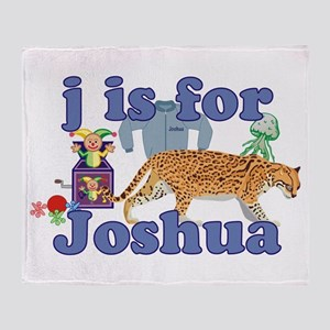 J is for Joshua Throw Blanket