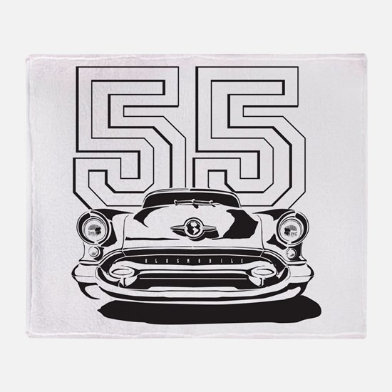 '55 Olds Throw Blanket