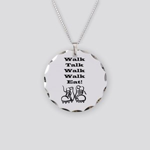 New Walk, Talk, Eat Necklace Circle Charm