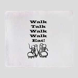 New Walk, Talk, Eat Throw Blanket