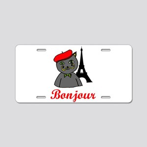 Bonjour Paris Aluminum License Plate