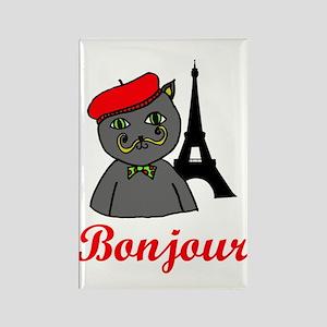 Bonjour Paris Rectangle Magnet