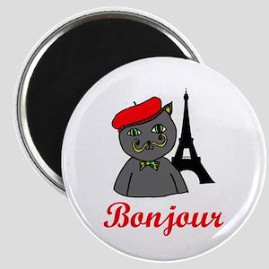 Bonjour Paris Magnet