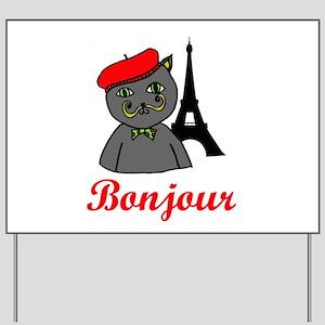 Bonjour Paris Yard Sign