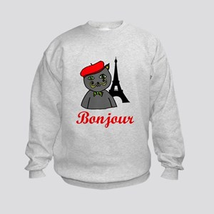 Bonjour Paris Kids Sweatshirt