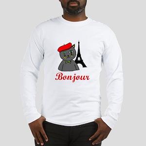 Bonjour Paris Long Sleeve T-Shirt