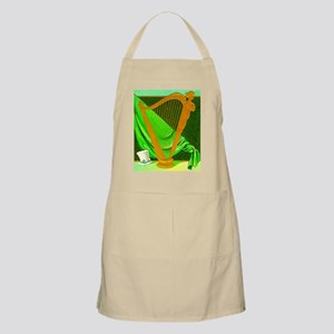 Beautiful Irish Harp BBQ Apron