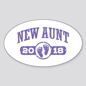 New Aunt 2018 Sticker (Oval)