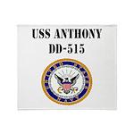 USS ANTHONY Throw Blanket