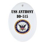 USS ANTHONY Ornament (Oval)