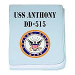 USS ANTHONY baby blanket