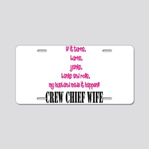 CC Wife Home/Office Aluminum License Plate