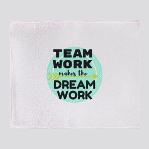 Team Work 1 Throw Blanket