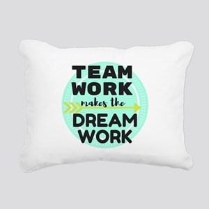 Team Work 1 Rectangular Canvas Pillow