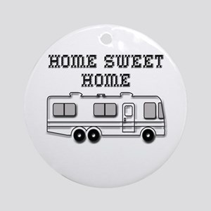 Home Sweet Home Motorhome Round Ornament