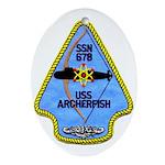 USS ARCHERFISH Ornament (Oval)