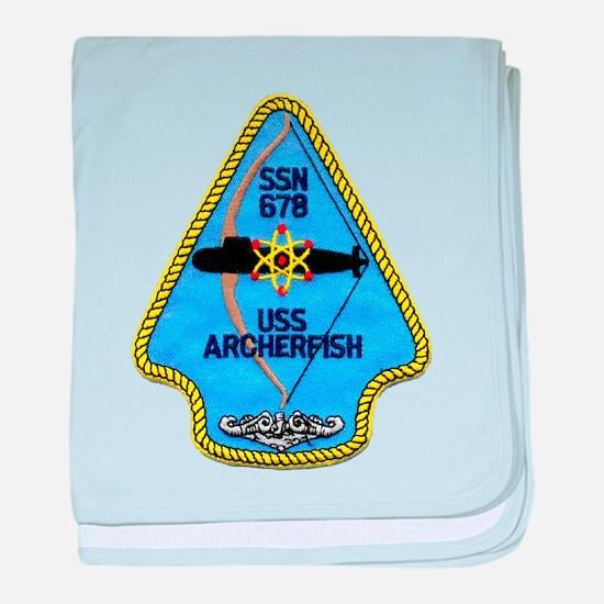 USS ARCHERFISH baby blanket