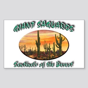 Giant Saguaros Sticker (Rectangle)