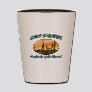 Giant Saguaros Shot Glass