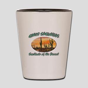 Giant Saguaros Shot Glass