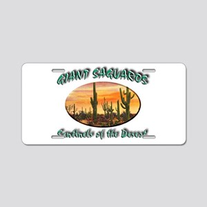 Giant Saguaros Aluminum License Plate