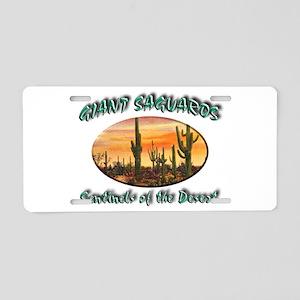Giant Saguaros Aluminum License Plate