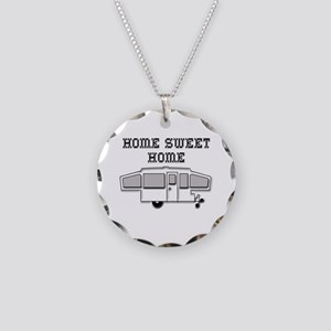 Home Sweet Home Pop Up Necklace Circle Charm