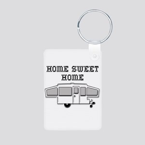 Home Sweet Home Pop Up Aluminum Photo Keychain