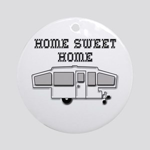 Home Sweet Home Pop Up Ornament (Round)