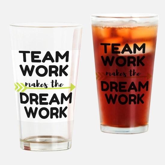 Team Work 2 Drinking Glass