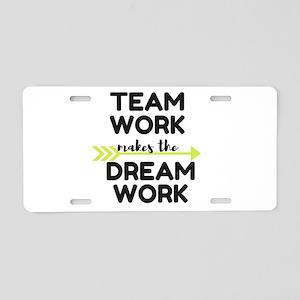 Team Work 2 Aluminum License Plate