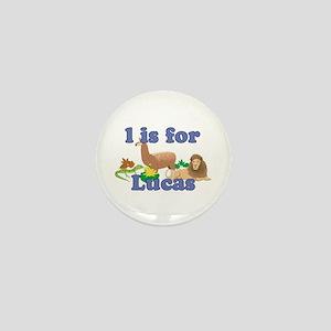 L is for Lucas Mini Button