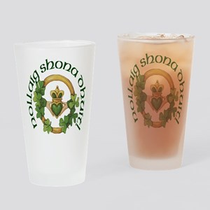 Christmas Claddagh Drinking Glass