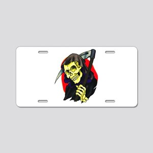 Death Grim Reaper Tattoo Aluminum License Plate