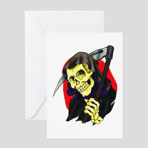 Death Grim Reaper Tattoo Greeting Card