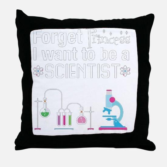 Cute Scientist Throw Pillow