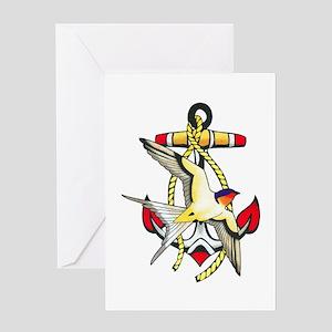 Nautical Anchor Tattoo Greeting Card