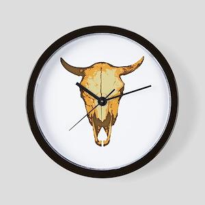 Cow Skull Wall Clock