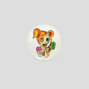 Zombie Girl Tattoo Mini Button
