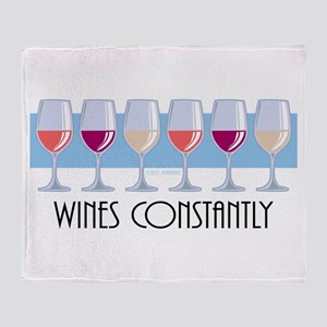 Wines Constantly Throw Blanket