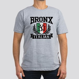 Bronx NY Italian Men's Fitted T-Shirt (dark)