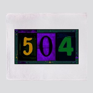 NOLA 504 Throw Blanket