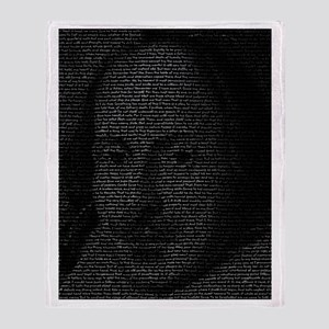 William Shakespeare Throw Blanket