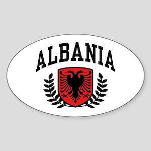 Albania Oval Sticker
