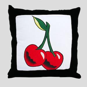 Cherries Tattoo Throw Pillow