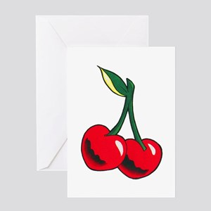 Cherries Tattoo Greeting Card
