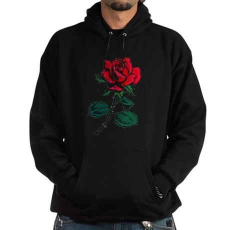 Red Rose Tattoo Hoodie (dark)